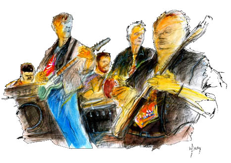 Blues Connection - illustration på bandet